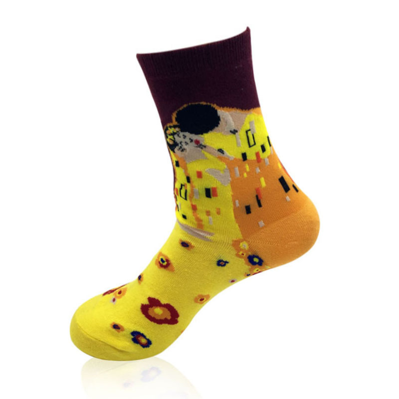 Для мужчин Прохладный Красочные Повседневное носки-забавная Повседневное хлопок экипажа платье носки Подарочный набор