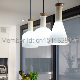 Nordic Modern Milky Glass Bottle Pendant Light With Ceiling Lamp Cafe Bar Hall Coffee Shop Club Store Restaurant  Gallery ювелирное изделие 01c614076