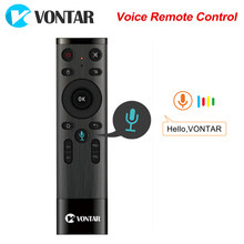VONTAR Google Microphone Q5 Voice Remote Control 2.4GHz Wireless Air Mouse Gyroscope For Android TV Box T9 X96 mini TX6 H96 MAX(China)
