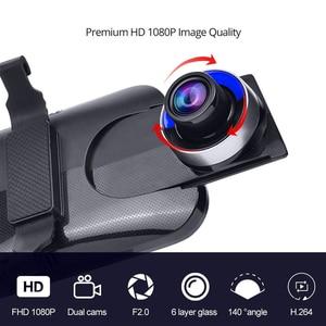 "Image 5 - Phisung 4G Streaming Android Auto DVR Sonder 10 ""Touch rückspiegel FHD 1080P Dual dash kamera ADAS wiFi GPS Kanzler dvrs"