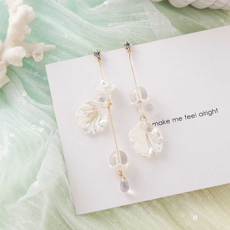 MENGJIQIAO New Korea Japan Elegant Shell Starfish Drop Earrings For Women Sweety Simulated Pearl Pendientes Girl Party Jewelry 10