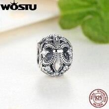 New Arrival 925 Sterling Silver Fleur-De-Lis Charm Beads Fit Original Pandora Bracelet Necklace Authentic DIY Jewelry SDPS030