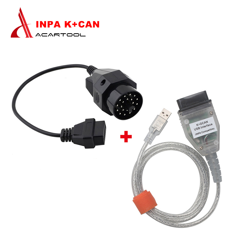 For BMW INPA K+CAN K CAN INPA With FT232RL Chip INPA K DCAN USB Interface OBD2 Diagnostic Connector For BMW