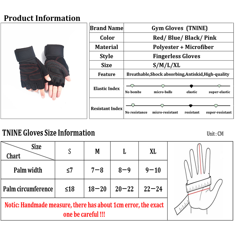 HOT SALE] Brand Sports Gloves Fitness Exercise Training Gloves
