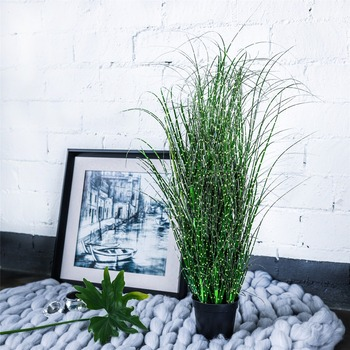 Artificial Fern Grass Green Plant Flower Plants Home Wedding Shop Party Grass DIY Green Plant Simulation Flowers Decoration