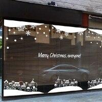 2017 De Noël Nouvelle Année Vinyle Sticker Café Boutique Vêtements Boutique De Noël Mur Sticke De Noël Boutique Verre Fenêtre Décoration