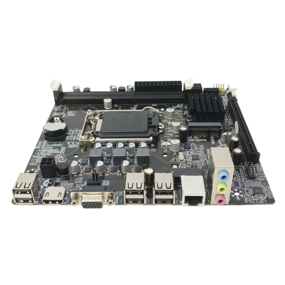 DDR3 USB2.0 logements mémoire double canal H61 carte mère d'ordinateur 1155 broches haute compatibilité mise à niveau pratique Quad Core Desktop