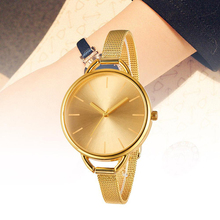 2019 Fashion Watch Women Golden Luxury Brand Vintage Gold Stainless Steel Wristwatch Date Men Classic Gift