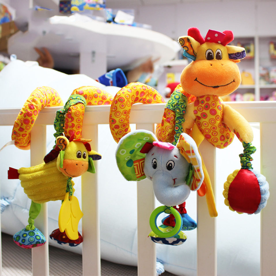 Lembut Bayi Crib Bed Stroller Mainan Spiral Bayi Mainan Untuk Bayi - Mainan balita - Foto 5