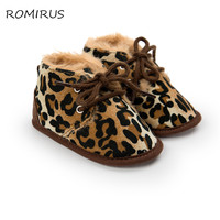 ROMIRUS Super Warm Lace Up Boots Brand New Baby Boys Girls Soft Soled Toddler Crib Shoes