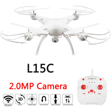 LiDi RC L15 L15C 2.4G 6 Axis Barometer Set Height Mode GYRO RC Quadcopter RTF RC Helicopter with Headless and 2.0MP HD Camera
