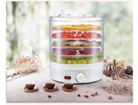 Frutas secas máquina 5 camadas secador de alimentos máquina de frutas secas 350w botão controle desidratador de carne vegetal