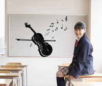 Free Shipping Music And Dance Arts Training School Notes Violin Piano Background Wall Stickers