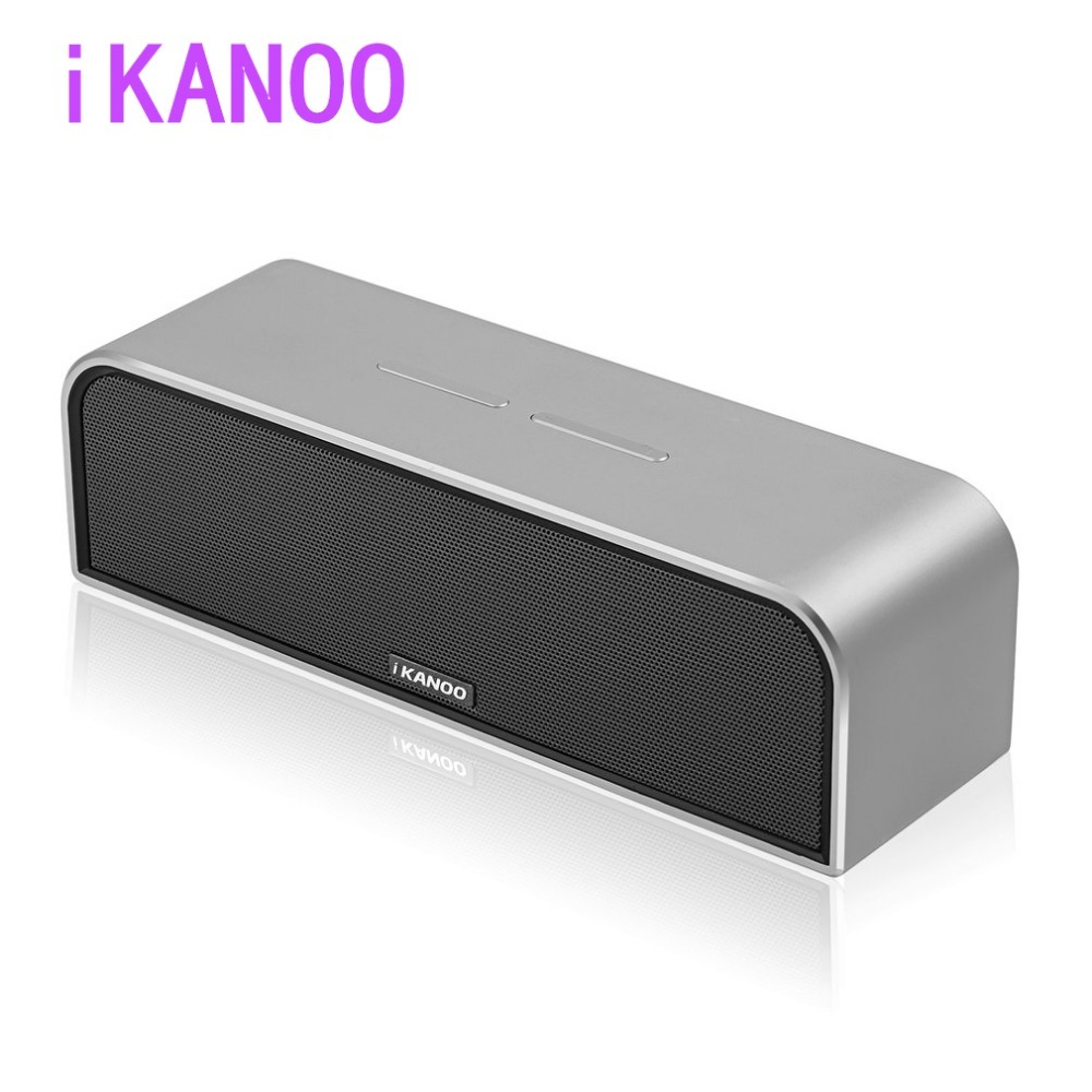 iKANOO Portable i988 Wireless Bluetooth Speaker with Mic Hands-free Calls Rose Golden Stereo Music Surround Support TF AUX cky bc03f portable wireless bluetooth speaker w hands free calls for cellphone tablet pc black