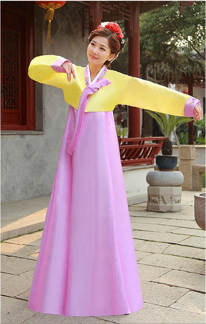 Online Shop High Quality Silk Women Hanbok Long Sleeve Traditional Korean  National Costumes Korean Ancient Cothes Hanbok Dress 17  3000cb5af542