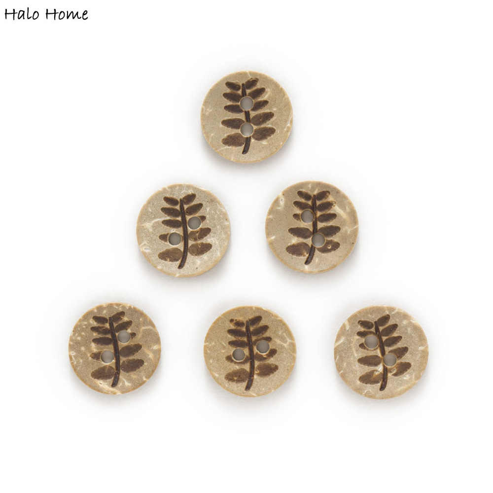 30pcs 2/4Hole Many styel Optional Pattern Coconut Buttons Clothing Home Decor Gift Sewing Scrapbooking Handwork Craft DIY 9-13mm