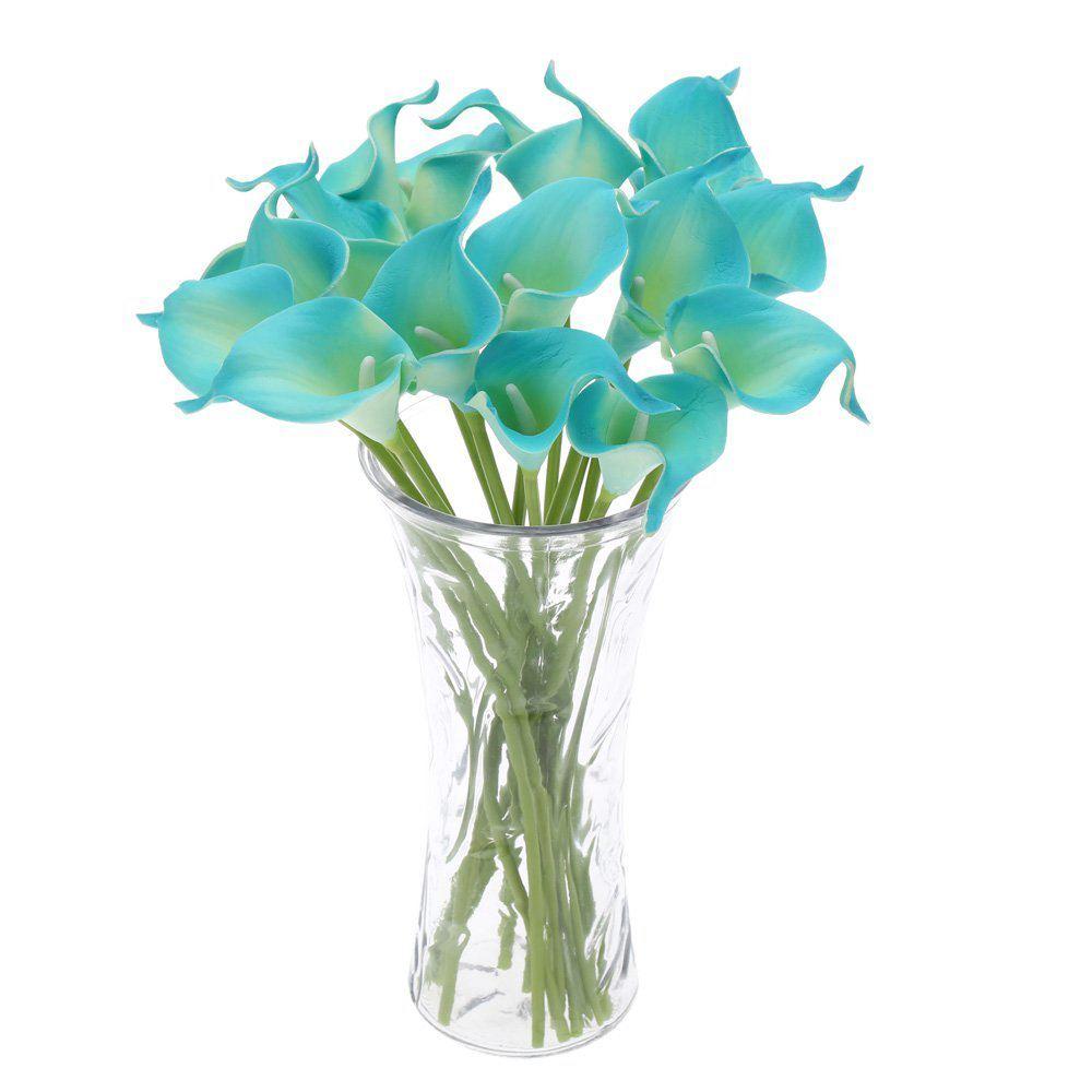 UESH 18PCS Artificial Calla Lily Flowers Single Long Stem Bouquet ...