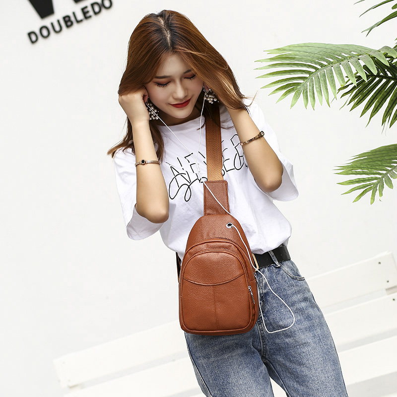 Lagemisay 2019 Women Small Pure Color Messenger Bags Girls Crossbody Bags Ladies Casual Chest Bag Waterproof