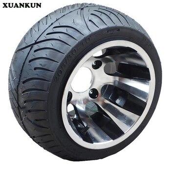 "XUANKUN  Beach Car Karting Modification Accessories 10 ""Tires 205 / 30-10"" Vacuum Tires Flat Tire Wheels"