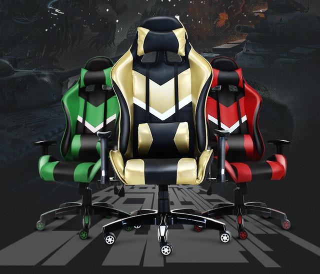 Venda quente Cadeira de Jogos LOL sports car assento da cadeira reclinável cadeira casa cadeira do computador WCG jogo cafés