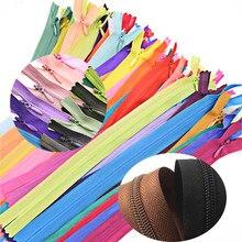 10 stücke 3 #15cm 28cm 35cm 40cm 45cm 50cm 55cm 60cm unsichtbaren Reiß Nylon Spule Zipper Tailor Für Handwerk Nähen Tuch Zubehör
