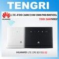 Desbloqueado huawei b315 b315s-22 cpe lte de 150 mbps 4g lte fdd tdd gateway sem fio wi-fi router com lan/usb porta + 2 pcs sma antena