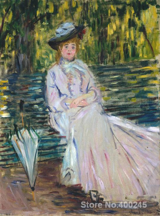 oil Painting room decor Woman Seated on a Bench c. by Claude Monet Landscape art Handmade High qualityoil Painting room decor Woman Seated on a Bench c. by Claude Monet Landscape art Handmade High quality