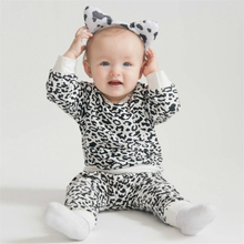 Wisefin Black & White Leopard Baby Clothes Set Autumn Newborn Boy Long Sleeve Infant Clothing Girl D30