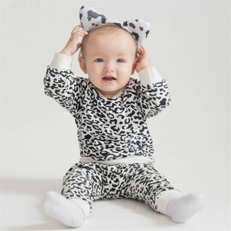 Wisefin Black & White Leopard <font><b>Baby</b></font> <font><b>Clothes</b></font> Set <font><b>Autumn</b></font> <font><b>Newborn</b></font> <font><b>Baby</b></font> Boy <font><b>Clothes</b></font> Long Sleeve Infant Clothing Set <font><b>Baby</b></font> <font><b>Girl</b></font> Set D30 image