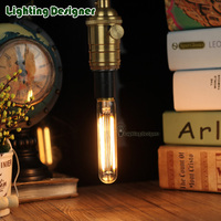 T20 110MM 2w Edison Bulb Tubular Bulb Double String LED Filament Design Length 4W Diammable Pandent