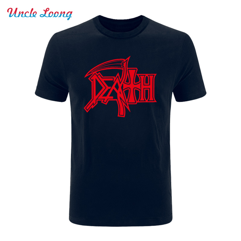 2017 NEW DEATH Logo T Shirts ROCK BAND HEAVY METAL Casual Round Neck Short Sleeve font