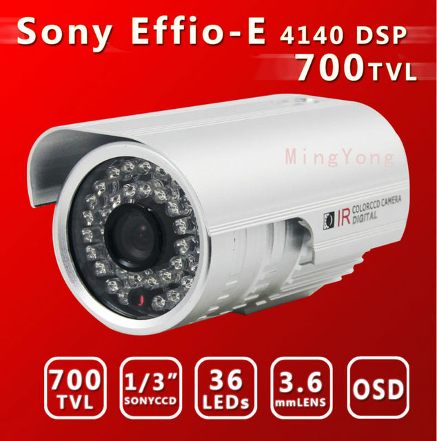 "1/3""Sony CCD&  Effio-E DSP+673CCD 700TVL 36Leds  30m IR distance Color Day/Night Indoor/Outdoor security CCD CCTV Camera"