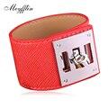 Meyfflin Men Bracelet Men's Jewelry Fashion Wrap Wide PU Leather Bracelets & Bangles Women Toggle-clasps Bijoux Accessories