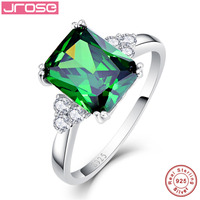 Hot Explosion Jrose 5 3ct AAA White CZ Romantic Real Pure 925 Sterling Silver Women S