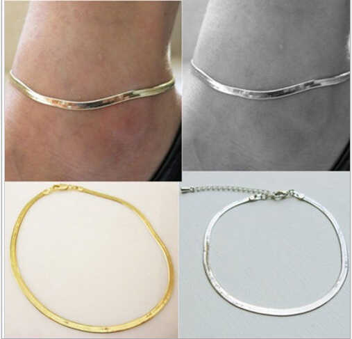 Summer style Fashion womenAnklets bransoletka na kostkę foot biżuteria łańcuszek złoto srebro kostki nogi charms boso sandały bransoletki
