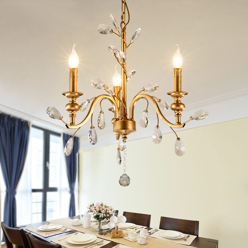 American chandelier countryside retro creative personality art designer Nordic study bedroom bedroom hallway corridor lights contemporary and contracted creative personality retro art glass chandelier cafe restaurant study lamps act the role of milan