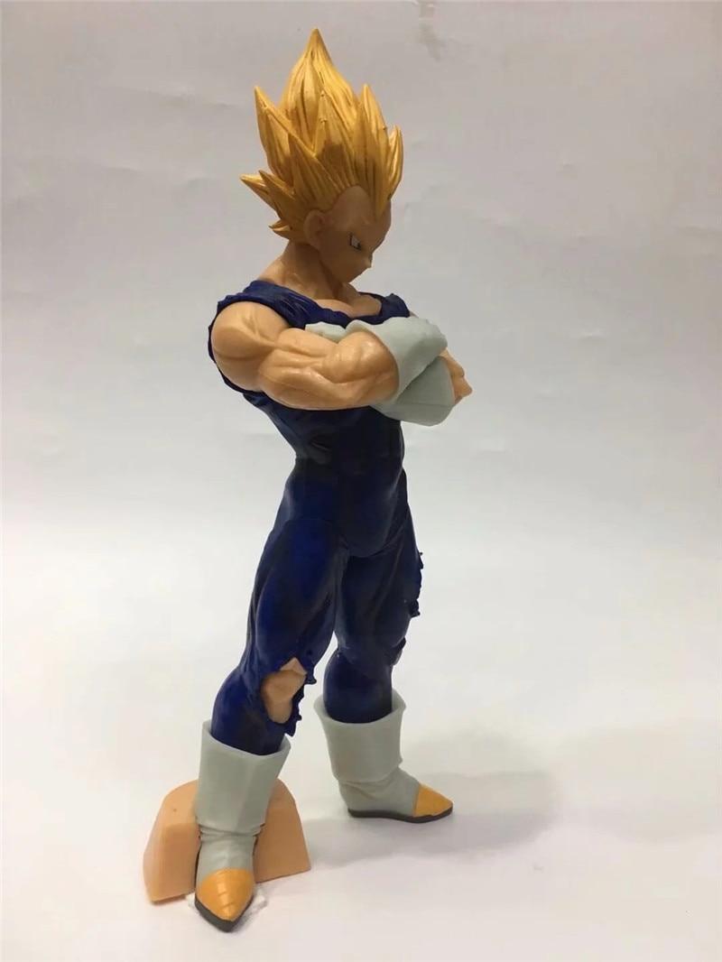 New Anime Dragon Ball Z Vegeta Action Figure Toys Resolution Of Soldiers Super Saiyan Vegeta Figuras Dolls Brinquedos 28cm (2)