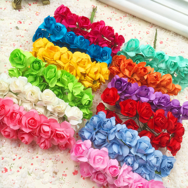 144 PCS A Artificial Flowers Mini Paper Flowers/wedding