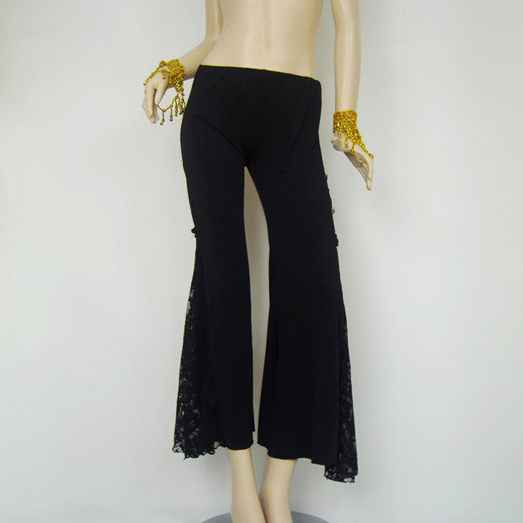 Belly Dance Costumes Flank Openings Lace Trousers Dancing Latin Yoga Pants