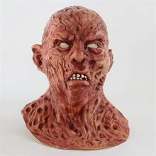 Realistic Adult Party Costume Horror Mask Deluxe Freddy Krueger Mask Scary Dance Carnival Cosplay Zombie Mask