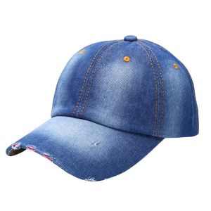 Vintage Men Women Sport Hat Casual Denim Baseball Ball Cap Sun Unisex Plain Hats
