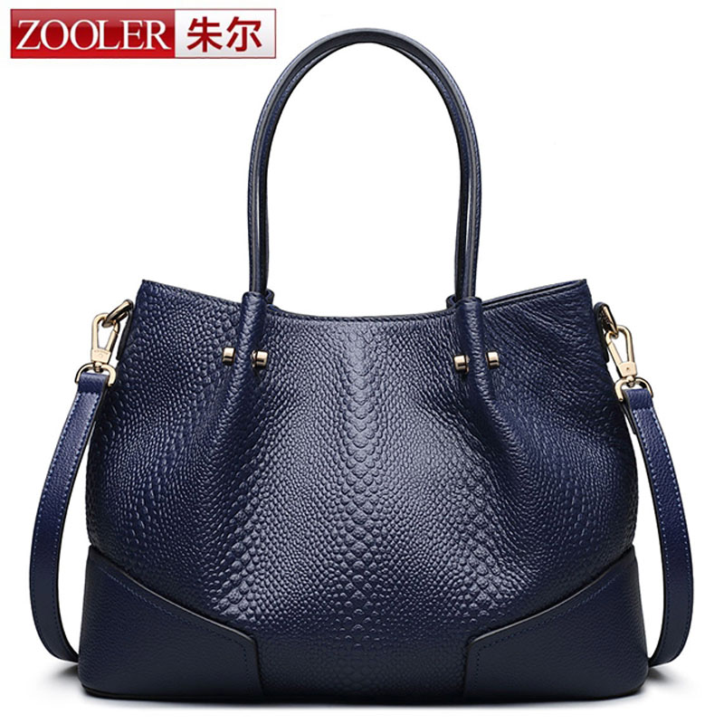ZOOLER Famous Brand Genuine Leather Ruched Handbags Ladies Casual Shoulder Bags Tote Women Large Shoulder Bag bolsa feminina sac