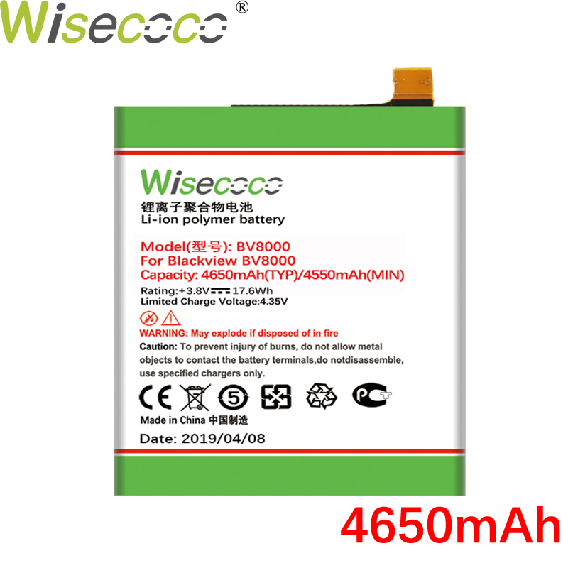 Wisecoco V636468P 4650mAh New Powerful Battery For Blackview BV8000 BV 8000 Pro Phone Battery Replacement + Tracking NumberWisecoco V636468P 4650mAh New Powerful Battery For Blackview BV8000 BV 8000 Pro Phone Battery Replacement + Tracking Number