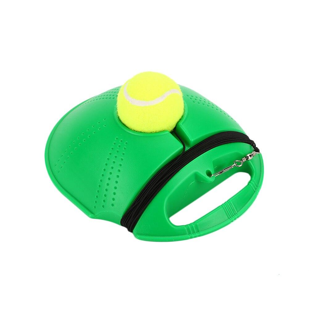 Сверхмощный Теннисный тренировочный инструмент Упражнение теннисный мяч спорт самообучающийся отскок мяч с теннисным тренером плинтус спарринг устройство - Цвет: green