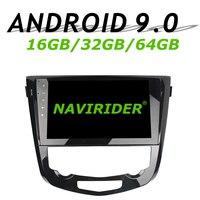 Navirider gps навигация для Nissan Qashqai X trai II полный сенсорный автомобиль android 9,0 8 core 64 Гб rom радио проигрыватель вluetooth стерео
