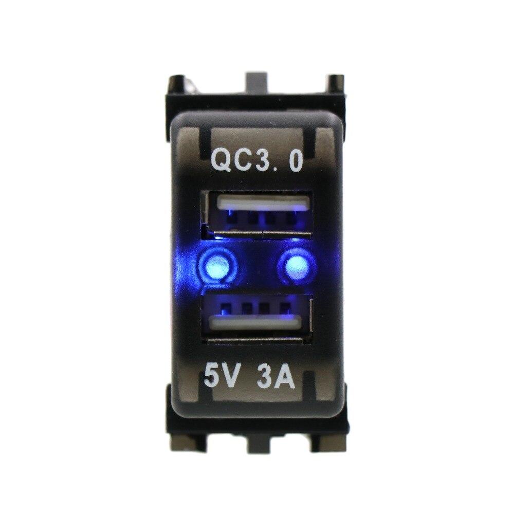QC3.0 + 5 В 3A USB разъем для быстрой зарядки автомобиля, быстрая зарядка автомобильное зарядное устройство для NISSAN, Qashqai, Tiida, X-trail, Sunny, NV200