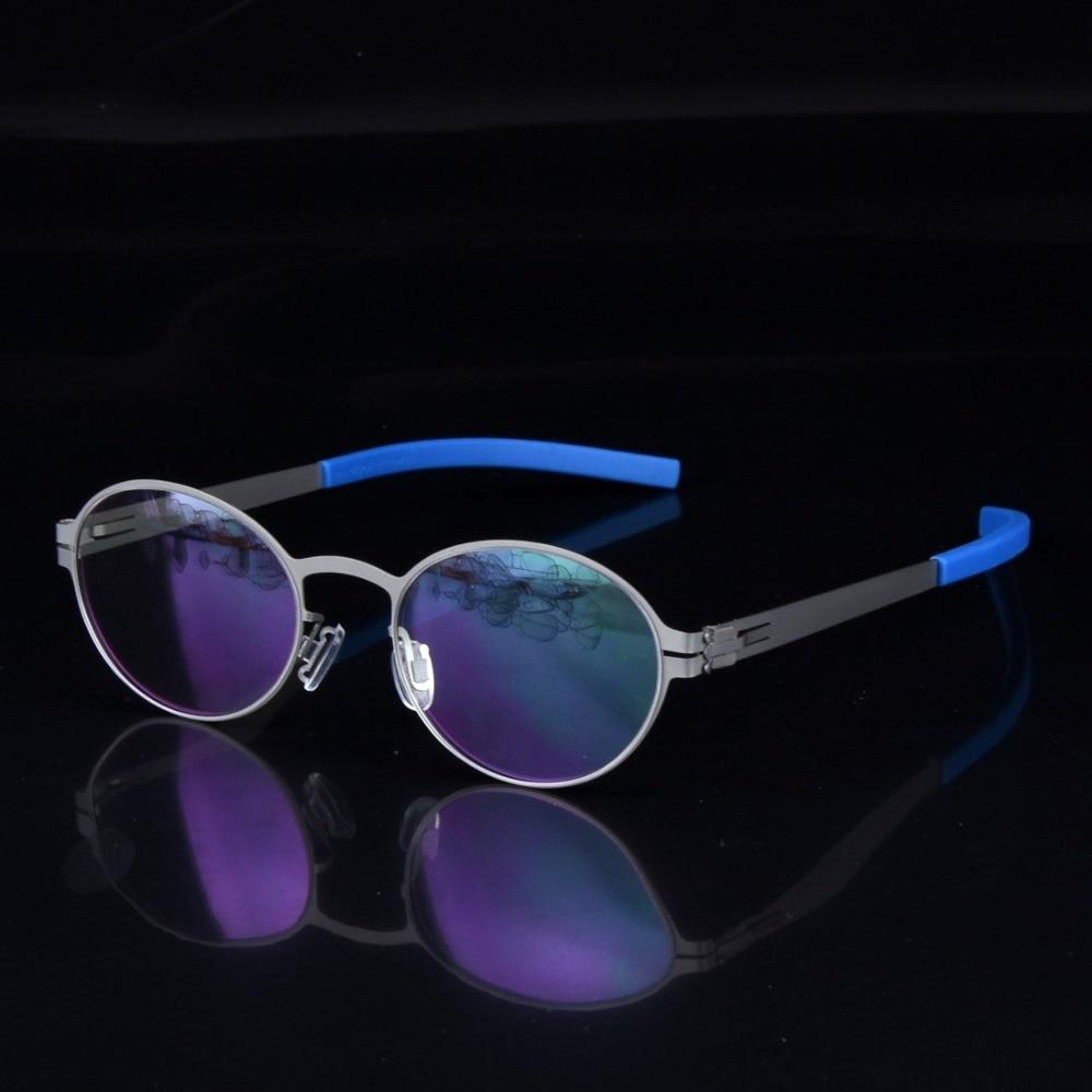Creative personality spectacle glasses frame men Scewless eyeglasses brand myopia reading lightweight prescription eyewear