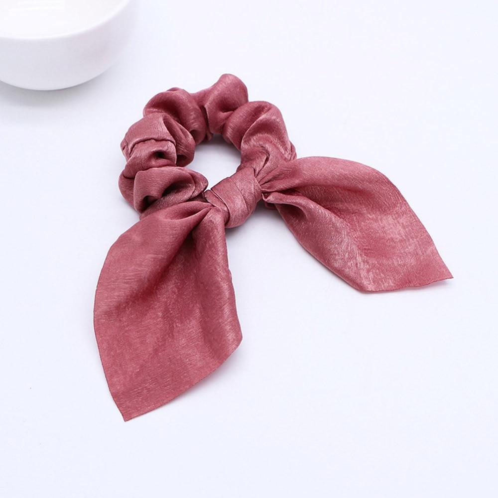 Nouveau mousseline de soie Bowknot élastique bandes de cheveux pour les femmes filles perle chouchous bandeau cheveux cravates élastique pour queue de cheval accessoires de cheveux 25