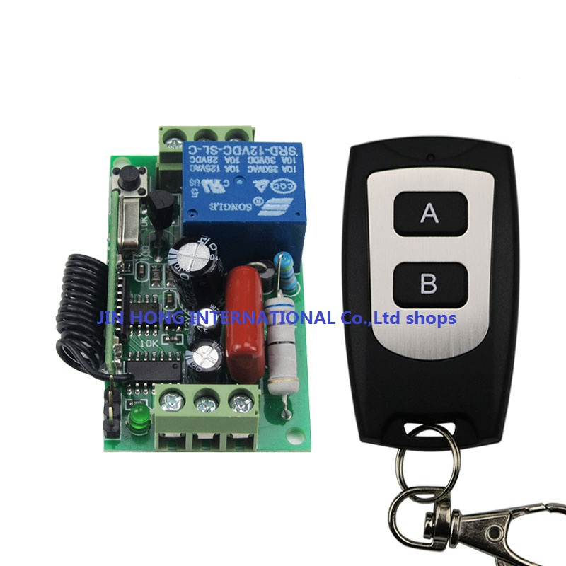 Factory direct sale AC220V 1CH 10A Remote Control Light Switch Relay Output Radio Receiver Module and Waterproof Transmitter