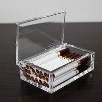 Yaratıcı ve Akrilik Şeffaflık Taşınabilir Sigara Durumda Ince Duman Kılıf